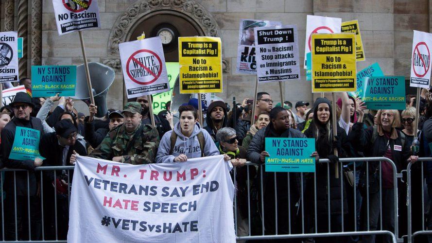 Trump Protest Islamophobia Hate Speech