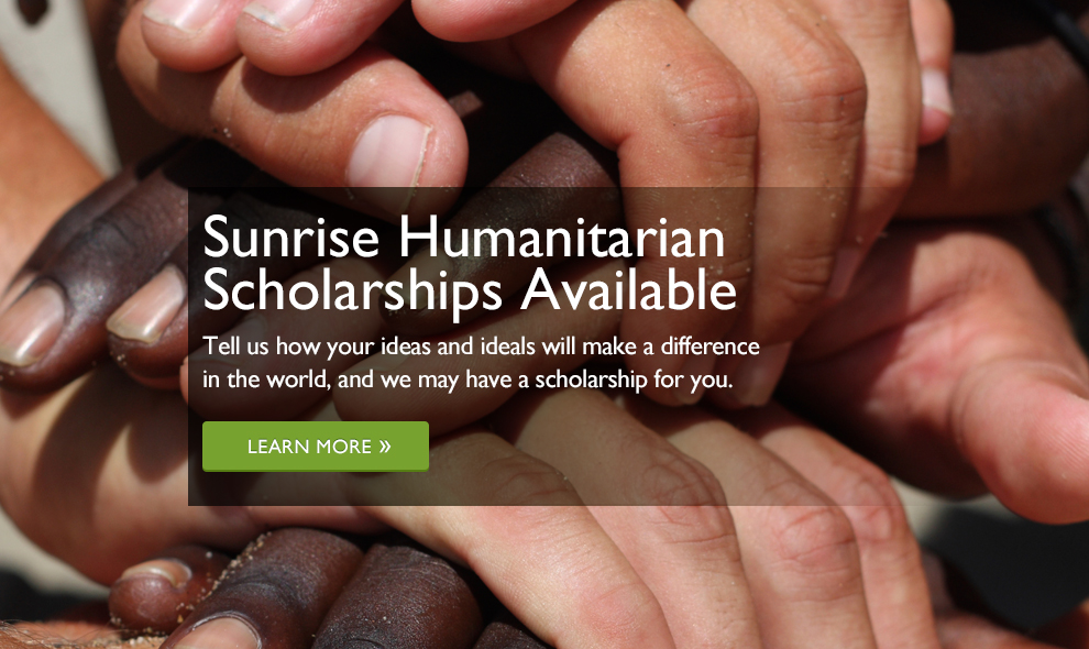 Sunrise Humanitarian Scholarship